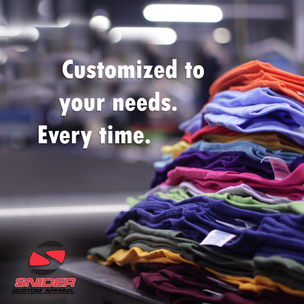 Snider Custom Apparel – Screen Printing, DTG, Embroidery  We